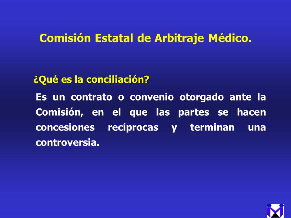 Comisión Estatal de Arbitraje Médico.