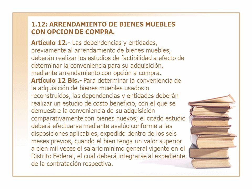 1.12: ARRENDAMIENTO DE BIENES MUEBLES CON OPCION DE COMPRA.