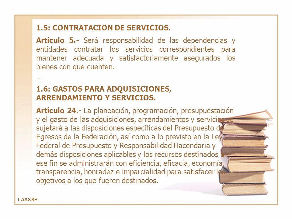 1.5: CONTRATACION DE SERVICIOS.