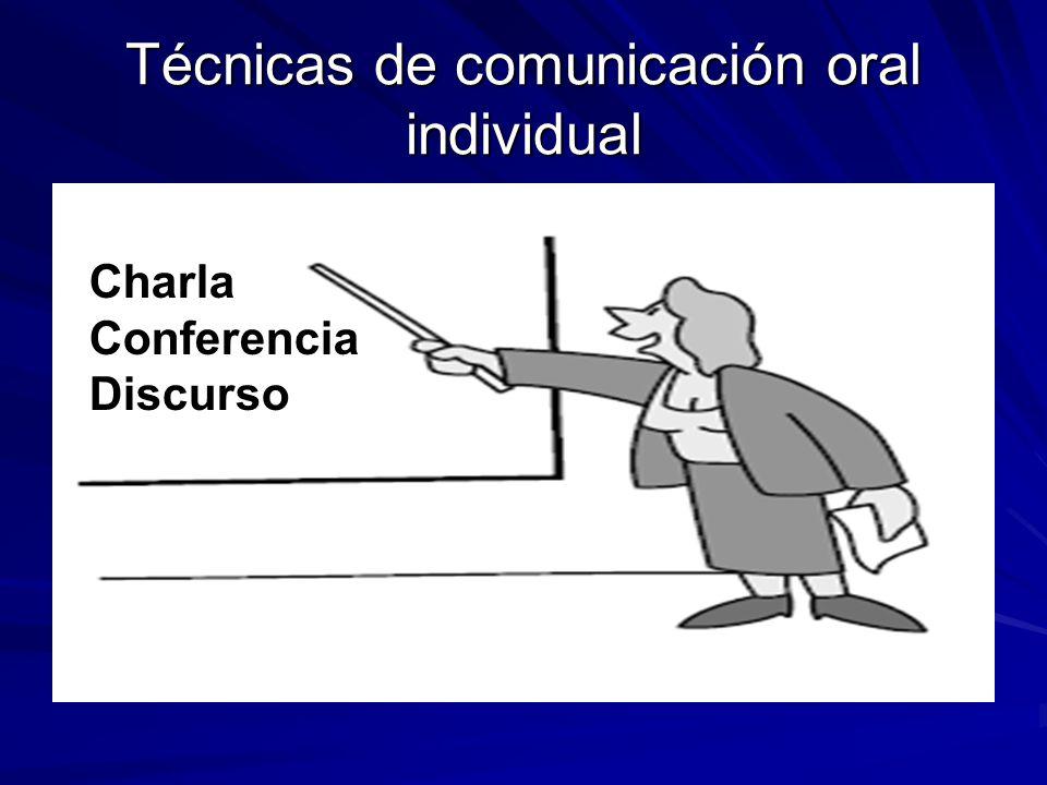 Técnicas de comunicación oral individual