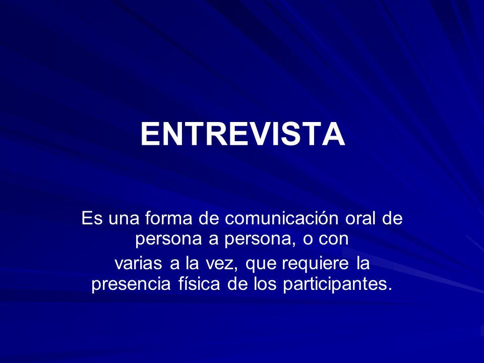 Es una forma de comunicación oral de persona a persona, o con