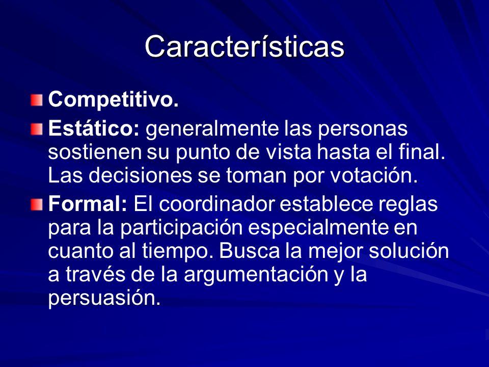 Características Competitivo.