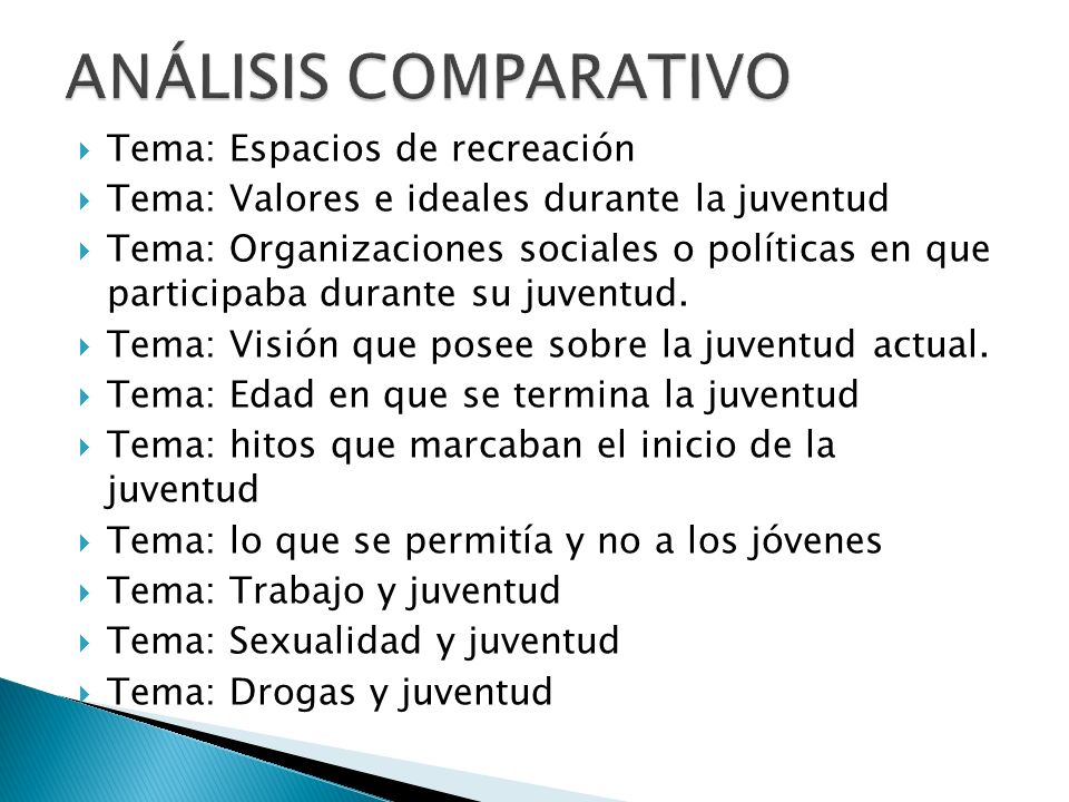 ANÁLISIS COMPARATIVO Tema: Espacios de recreación