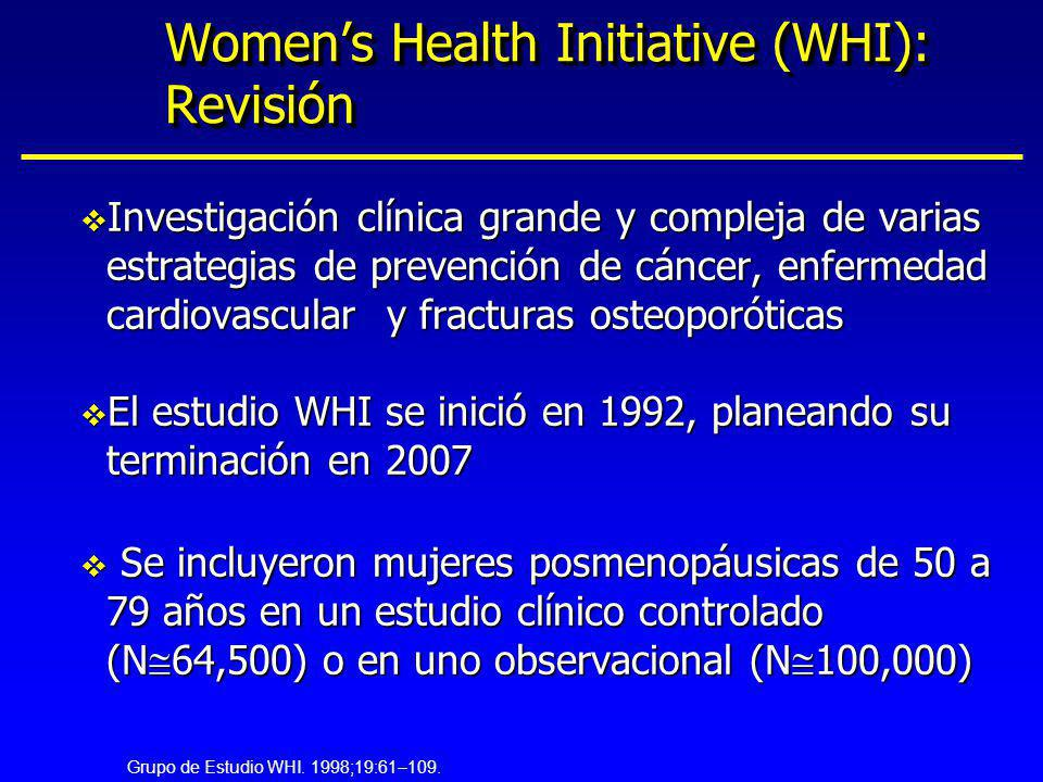 Women's Health Initiative (WHI): Revisión