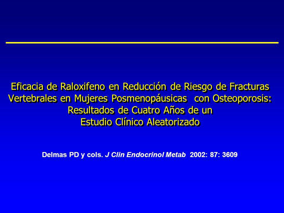 Eficacia de Raloxifeno en Reducción de Riesgo de Fracturas Vertebrales en Mujeres Posmenopáusicas con Osteoporosis: Resultados de Cuatro Años de un Estudio Clínico Aleatorizado