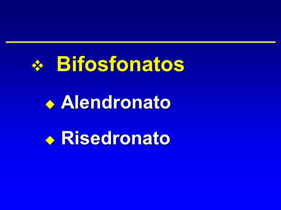 Bifosfonatos Alendronato Risedronato