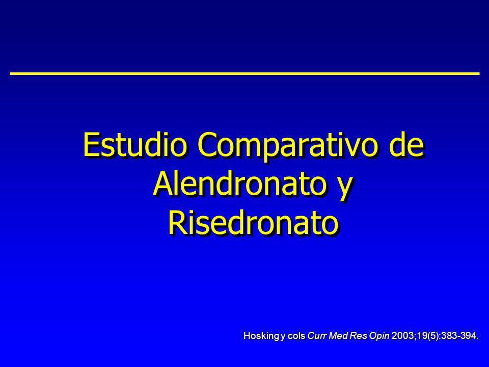 Estudio Comparativo de Alendronato y Risedronato