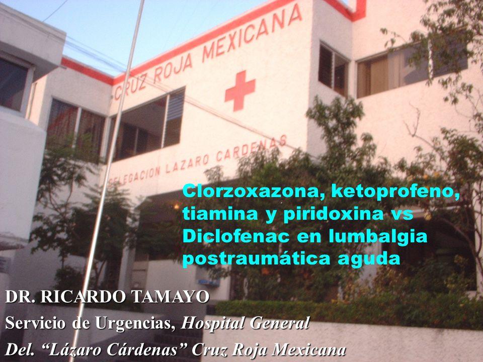 Clorzoxazona, ketoprofeno, tiamina y piridoxina vs Diclofenac en lumbalgia postraumática aguda