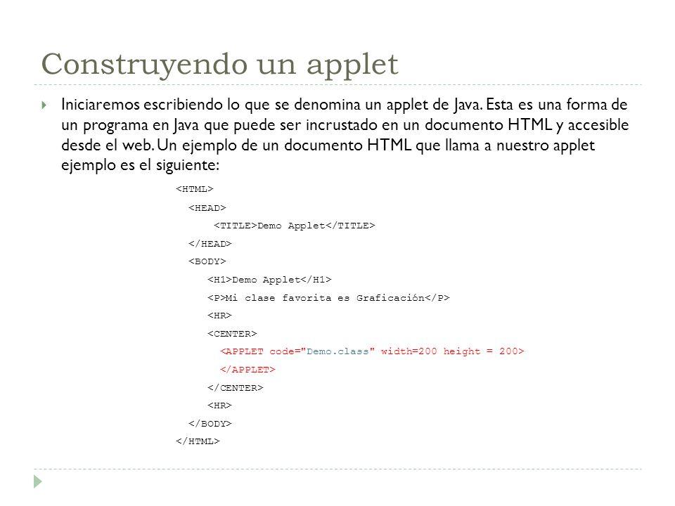 Construyendo un applet