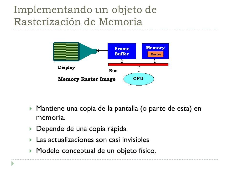 Implementando un objeto de Rasterización de Memoria