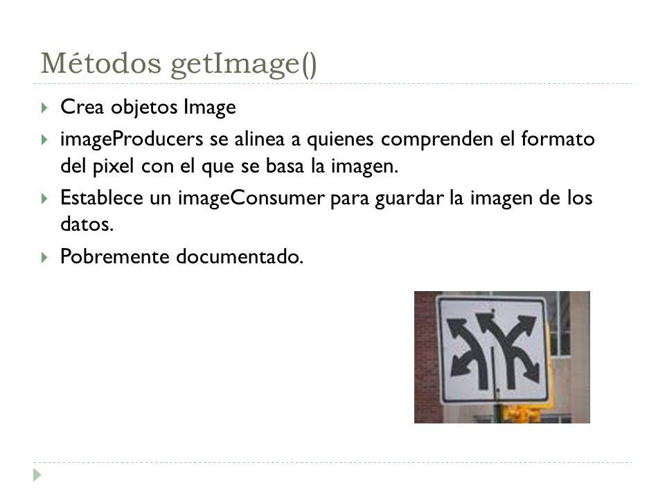 Métodos getImage() Crea objetos Image