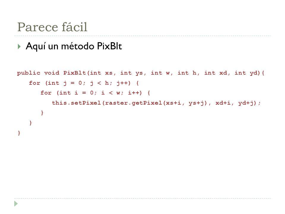 Parece fácil Aquí un método PixBlt