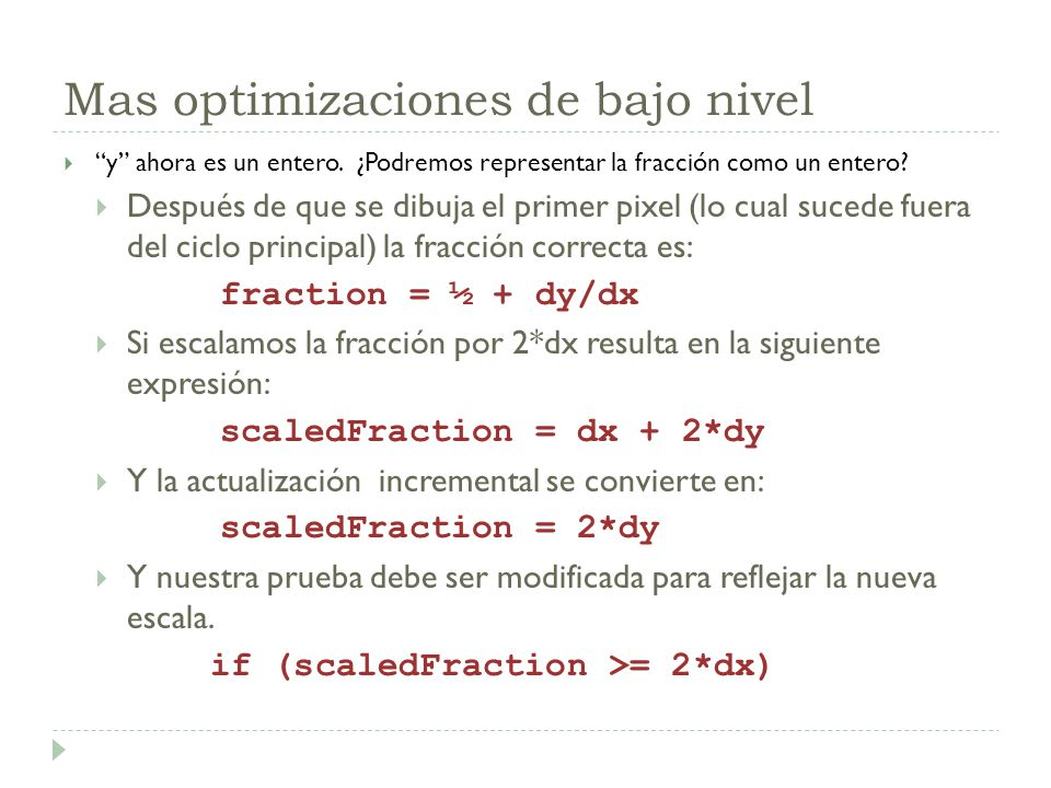 Mas optimizaciones de bajo nivel