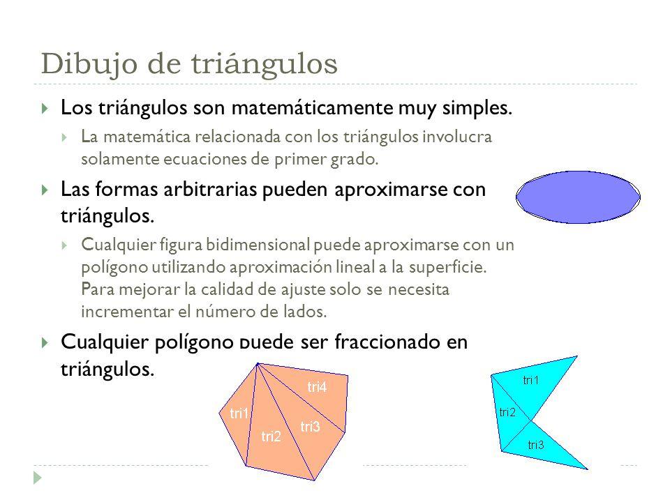 Dibujo de triángulos Los triángulos son matemáticamente muy simples.