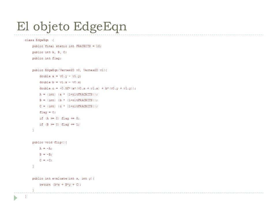 El objeto EdgeEqn