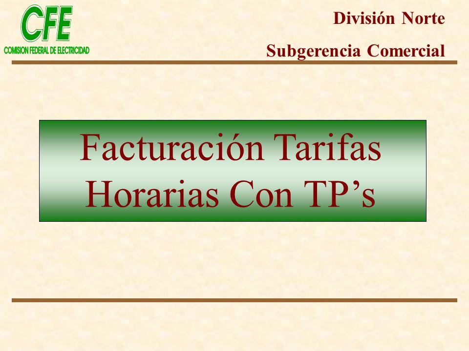 Facturación Tarifas Horarias Con TP's