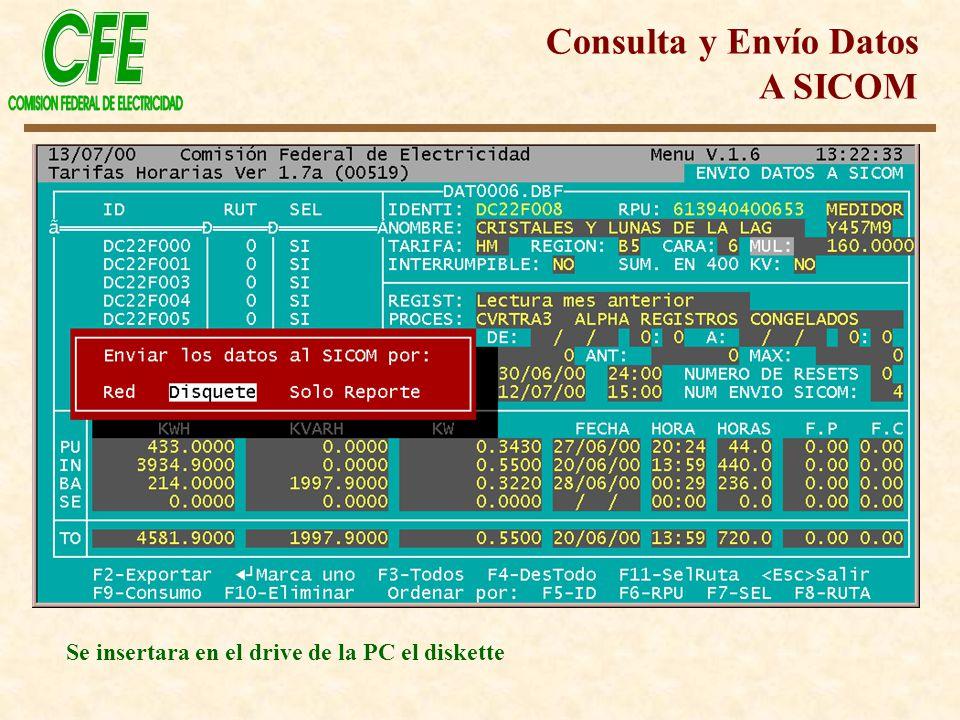Consulta y Envío Datos A SICOM