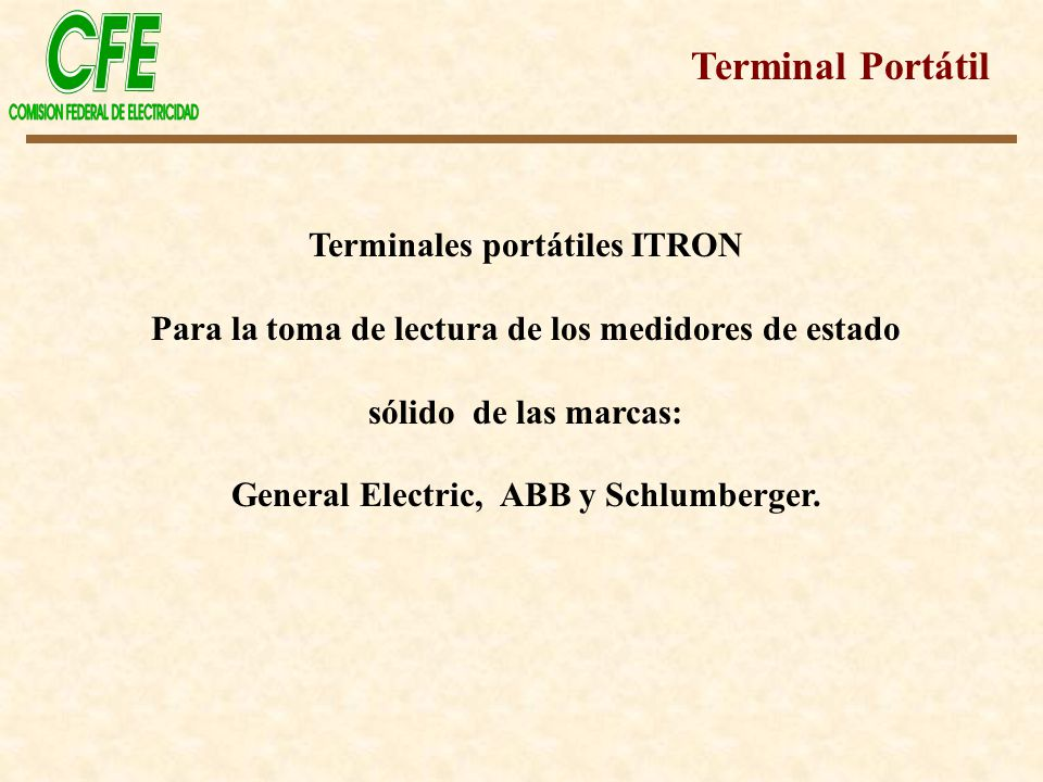 Terminal Portátil Terminales portátiles ITRON