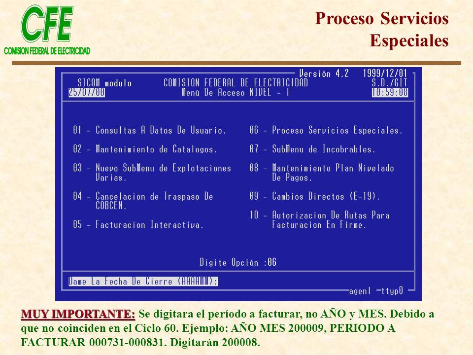 Proceso Servicios Especiales