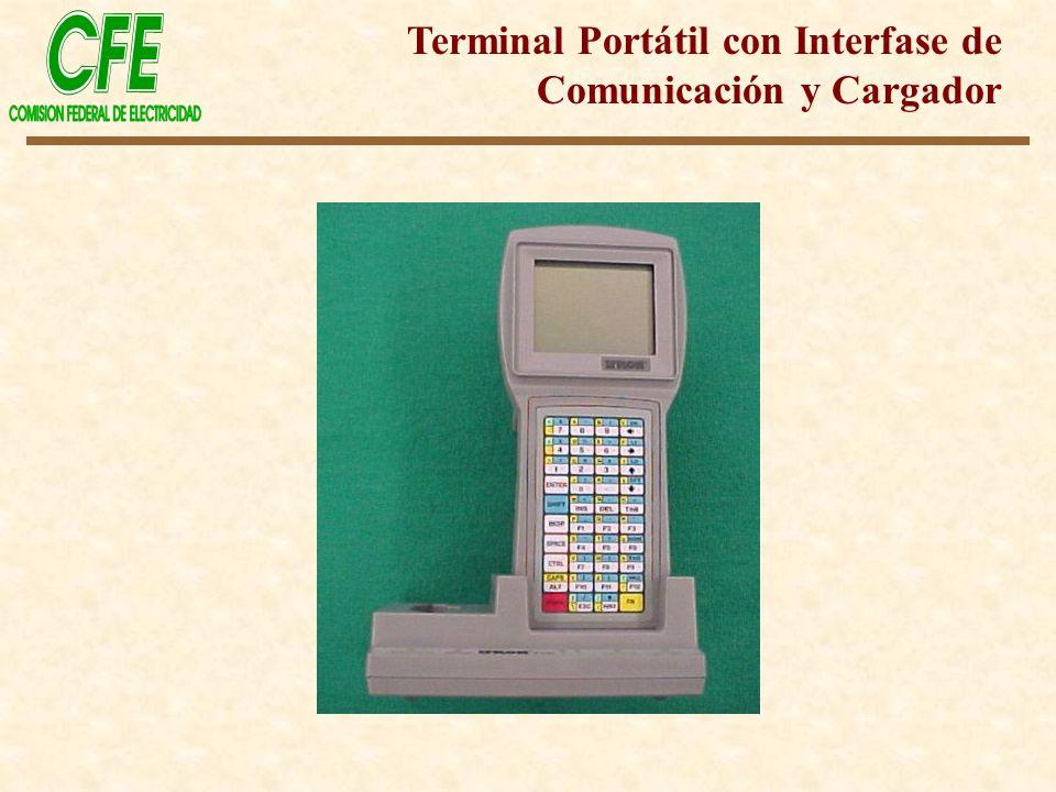 Terminal Portátil con Interfase de Comunicación y Cargador
