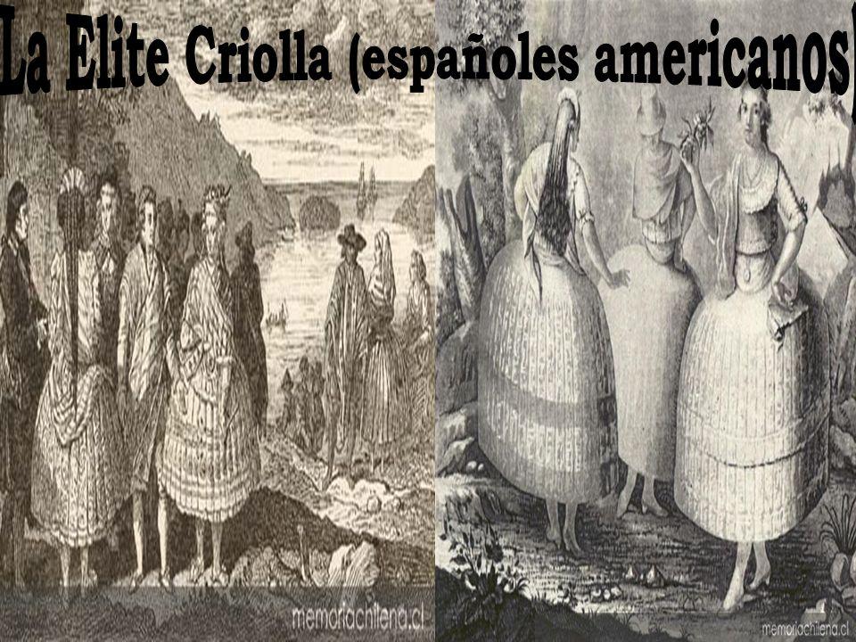 La Elite Criolla (españoles americanos)