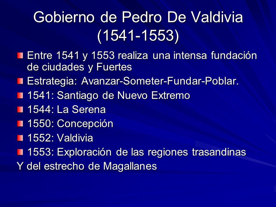 Gobierno de Pedro De Valdivia (1541-1553)