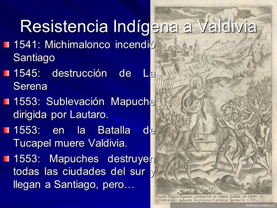 Resistencia Indígena a Valdivia
