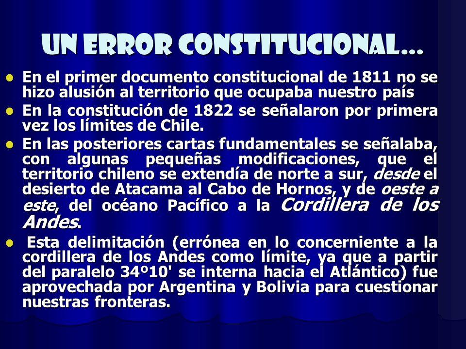 Un error constitucional…