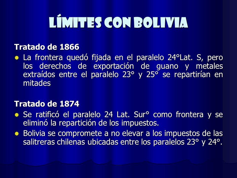Límites CON BOLIVIA Tratado de 1866
