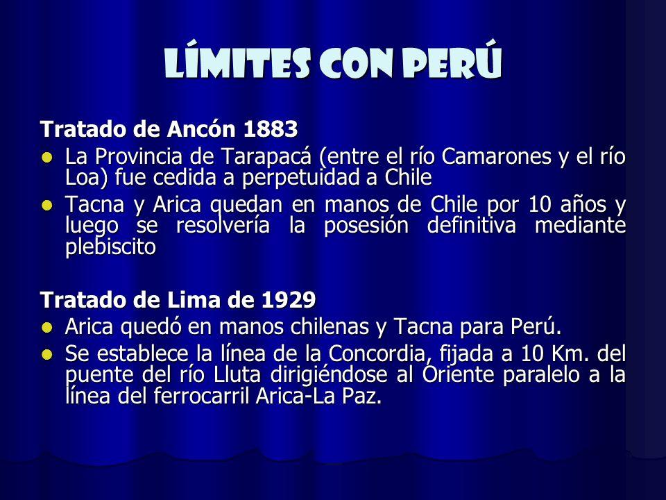 Límites con Perú Tratado de Ancón 1883