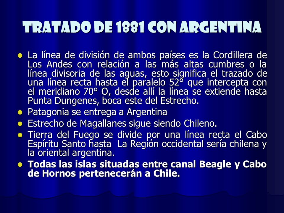 Tratado de 1881 Con Argentina