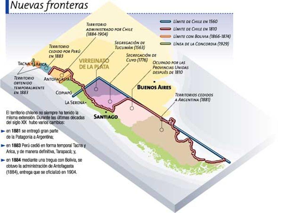 Expansión y Contracción Territorial de Chile