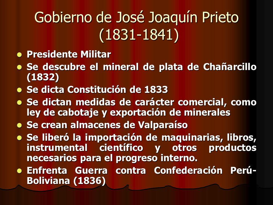 Gobierno de José Joaquín Prieto (1831-1841)