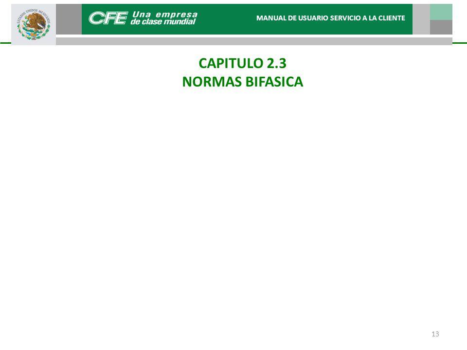 CAPITULO 2.3 NORMAS BIFASICA