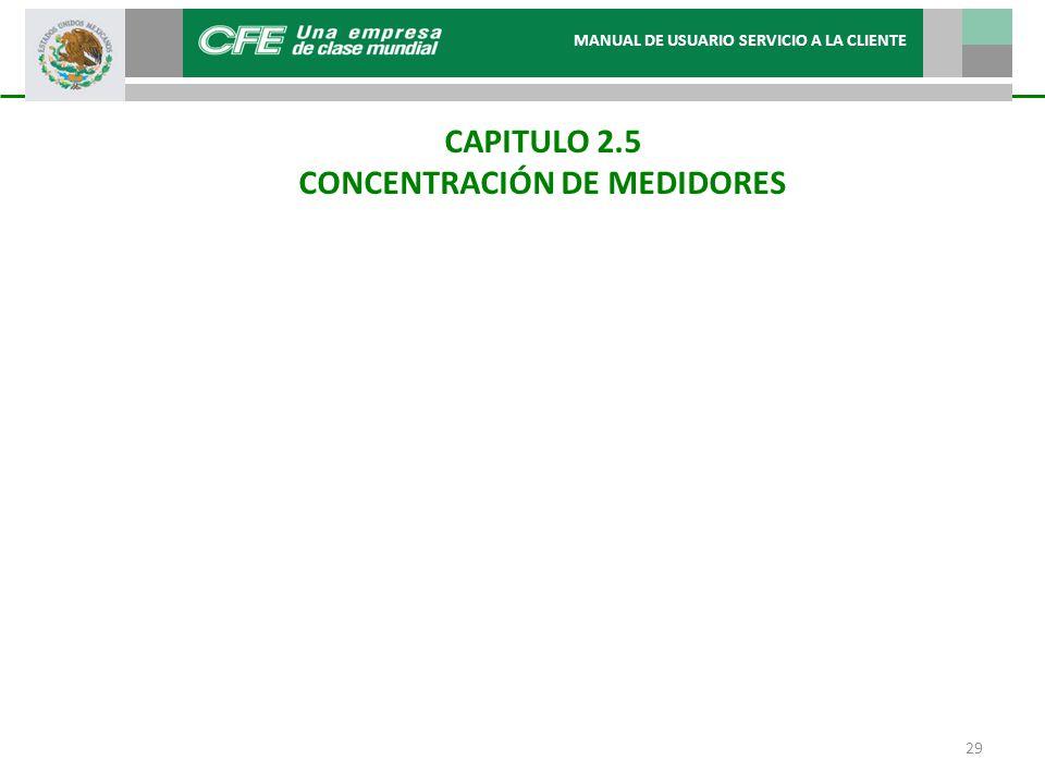 CONCENTRACIÓN DE MEDIDORES