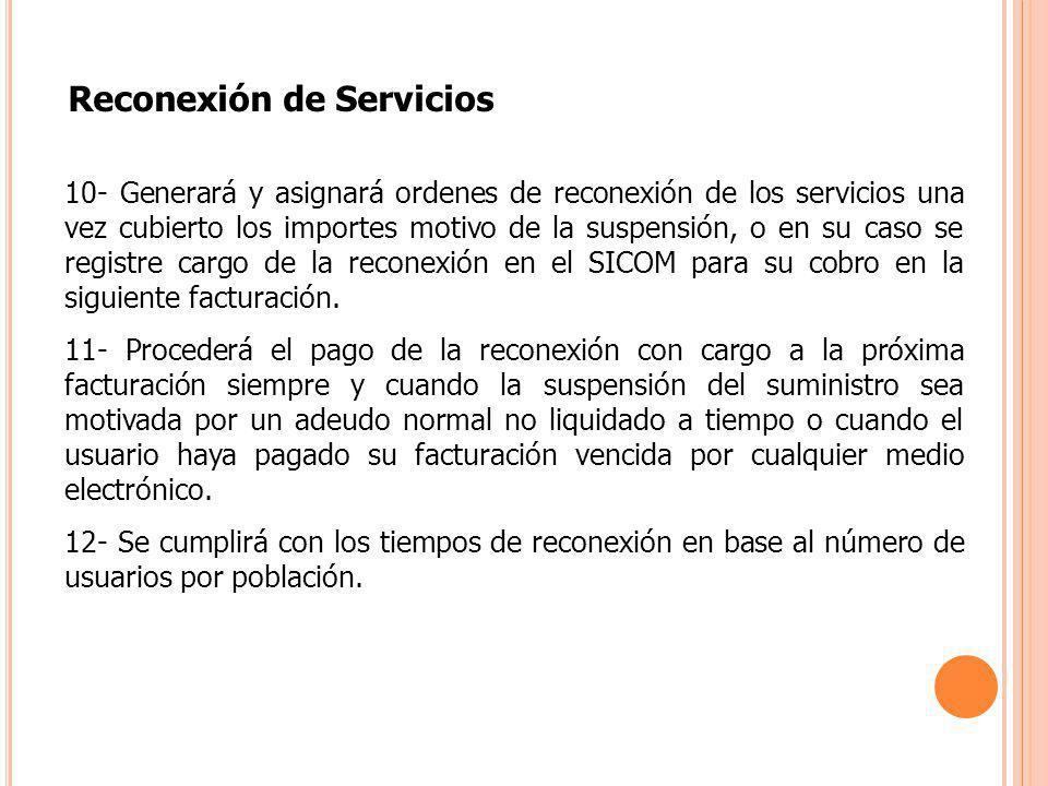 Reconexión de Servicios