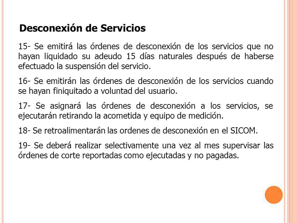 Desconexión de Servicios