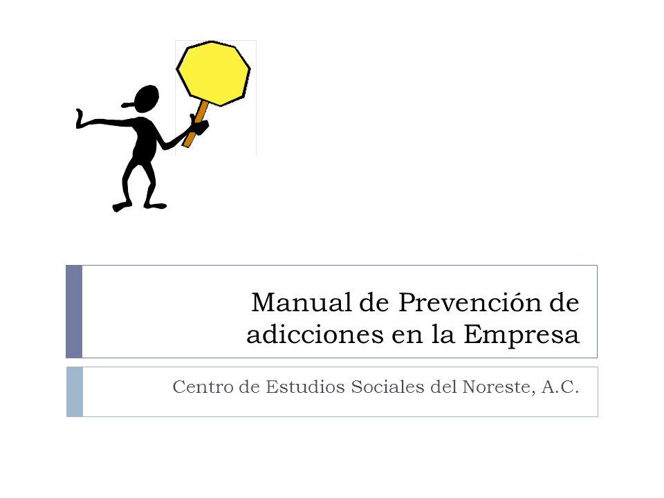 Manual de Prevención de adicciones en la Empresa