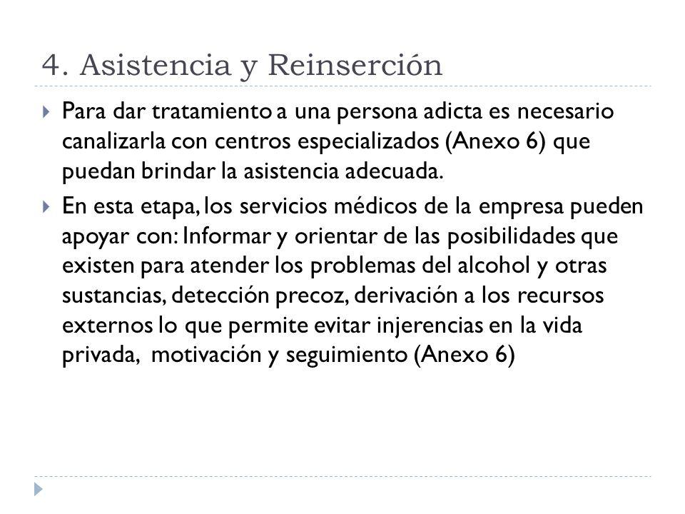 4. Asistencia y Reinserción