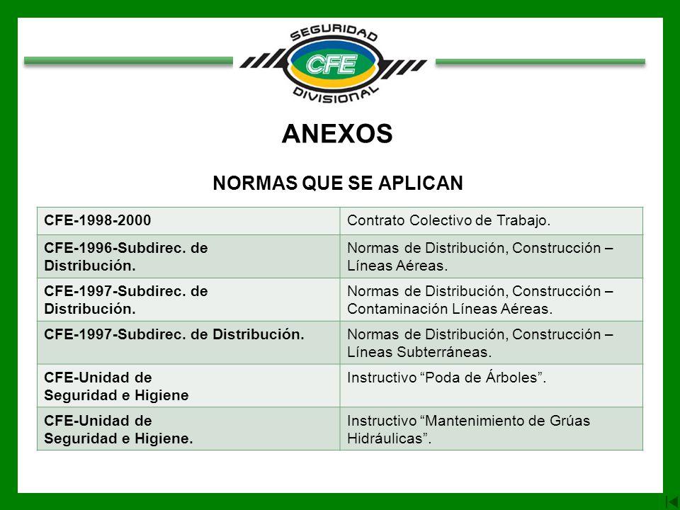 ANEXOS NORMAS QUE SE APLICAN CFE-1998-2000