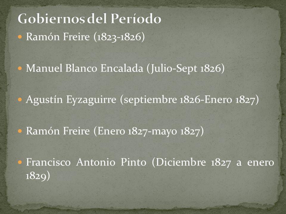 Gobiernos del Período Ramón Freire (1823-1826)
