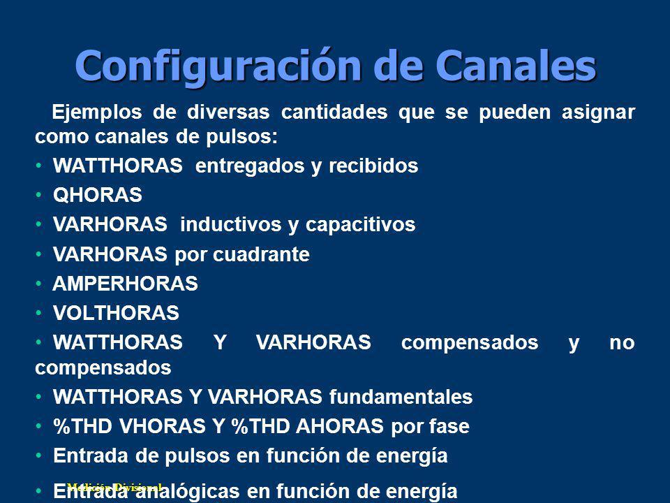 Configuración de Canales