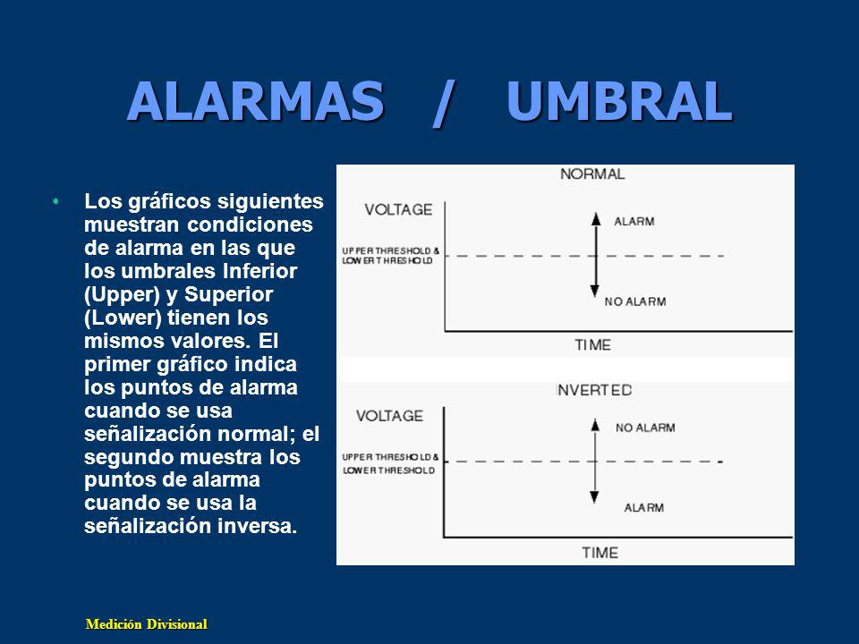 ALARMAS / UMBRAL