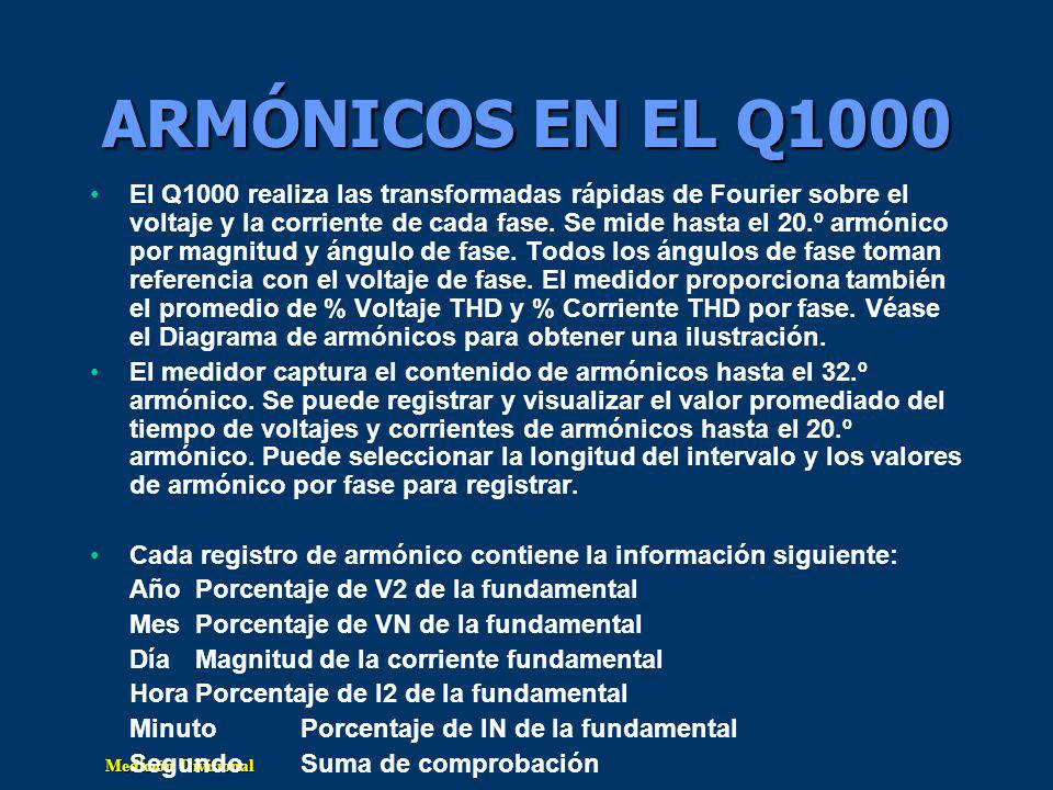ARMÓNICOS EN EL Q1000