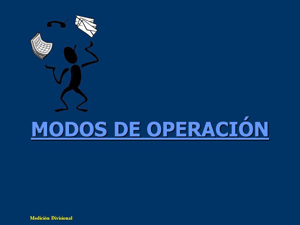 MODOS DE OPERACIÓN