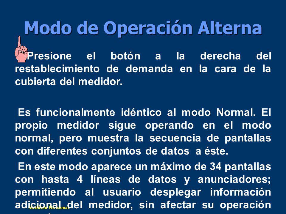 Modo de Operación Alterna