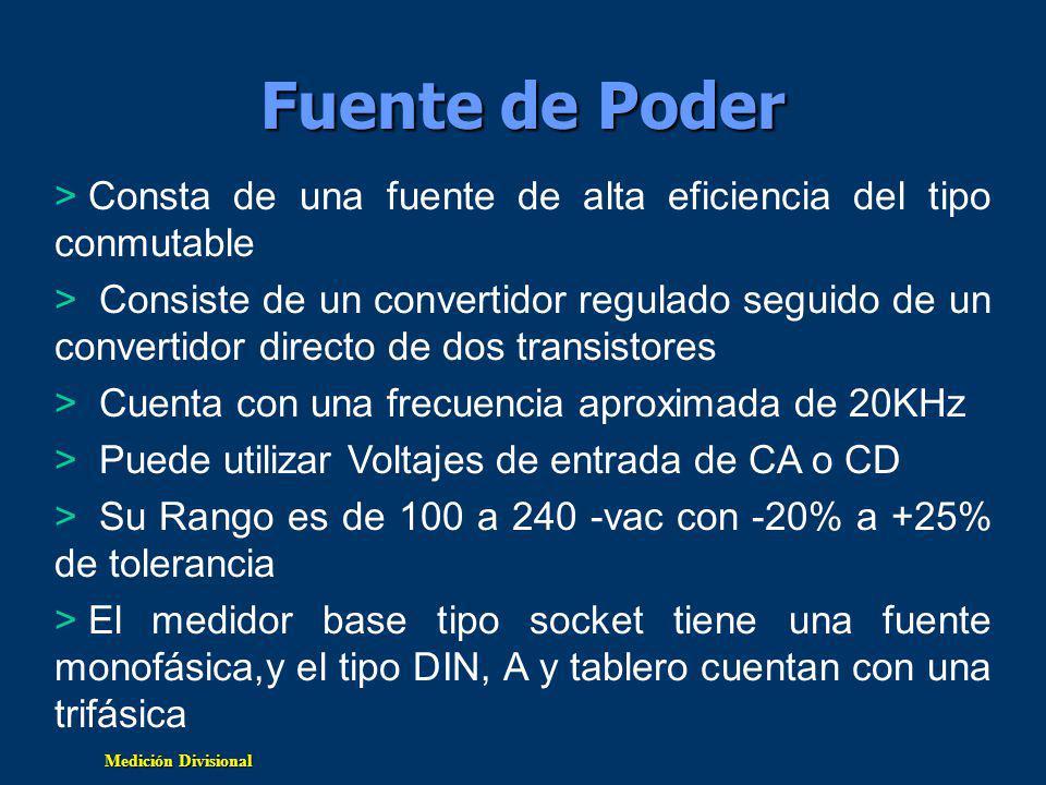 Fuente de Poder Consta de una fuente de alta eficiencia del tipo conmutable.