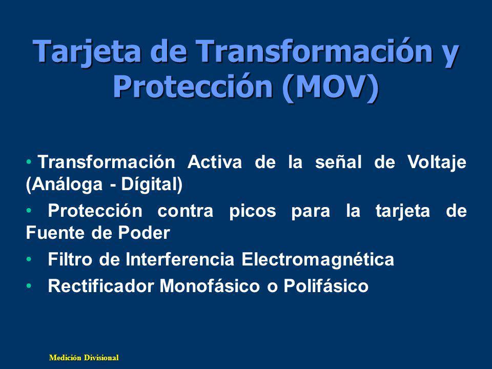 Tarjeta de Transformación y Protección (MOV)