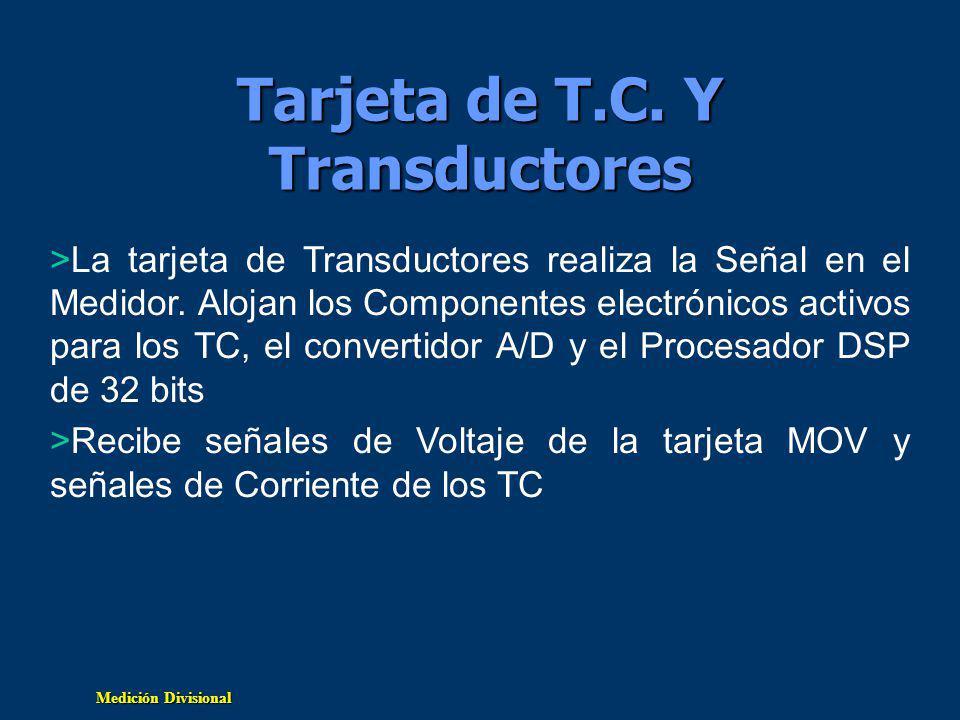 Tarjeta de T.C. Y Transductores