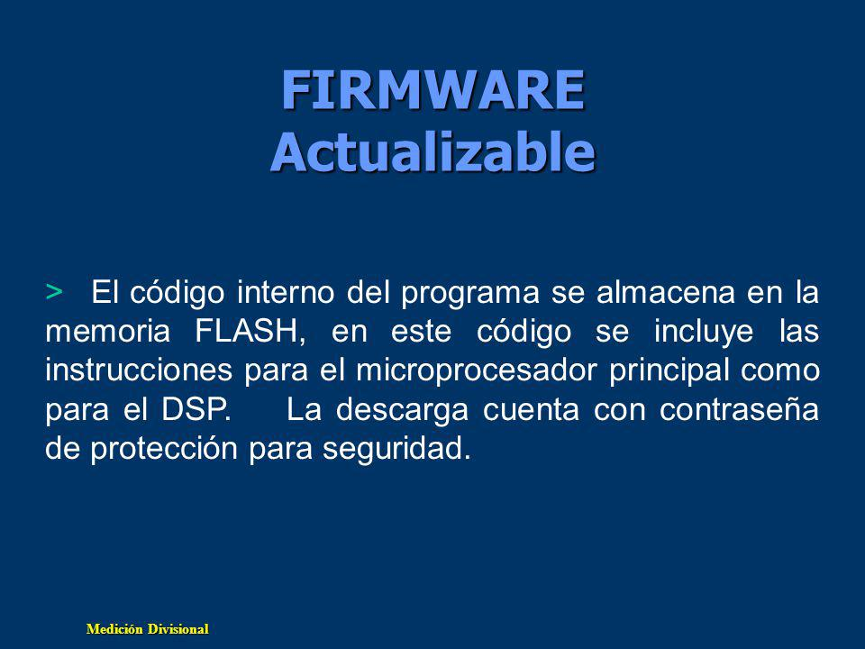 FIRMWARE Actualizable